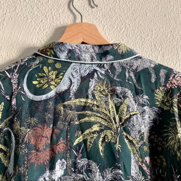 Bimba Y Lola Jungle Print Blouse